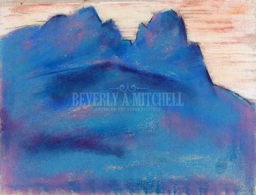 Blue Mountain (Garmisch Partenkirchen) by Marsden Hartley