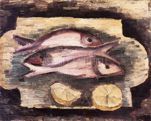 Fish And Lemons by Marsden Hartley