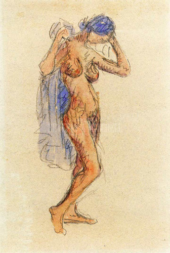 Nude Model With Drapery by Maurice Prendergast