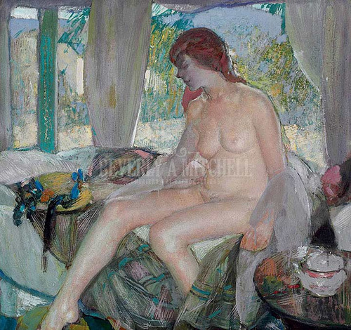 Nude In Interior by Richard Edward Miller
