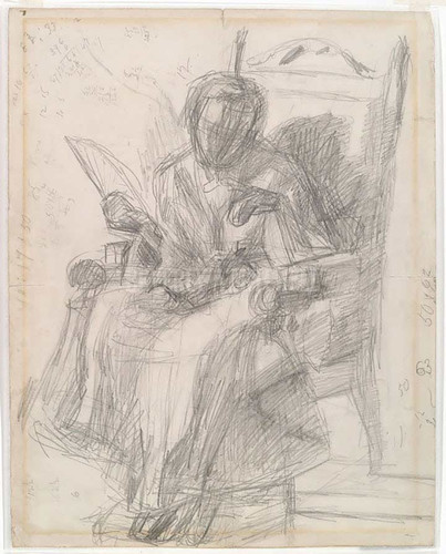 Drawing 1872 by Thomas Eakins