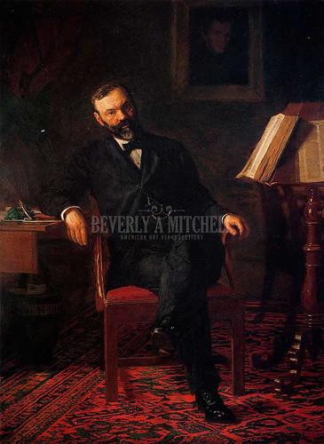 Portrait Of Dr. John H. Brinton by Thomas Eakins
