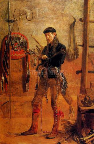 Portrait Of Frank Hamilton Cushing by Thomas Eakins