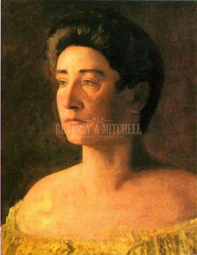 Portrait Of Mrs Leigo 1906 by Thomas Eakins