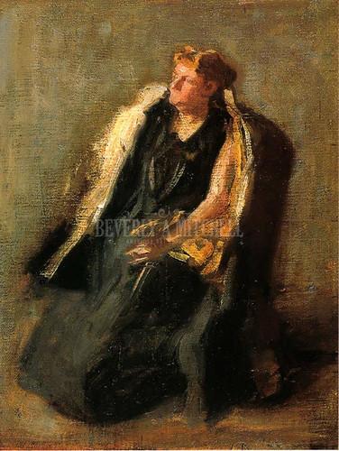 Portrait Of Mrs. Hubbard (Sketch) by Thomas Eakins