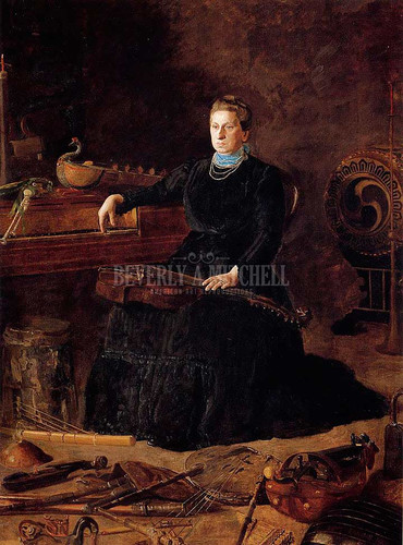 Portrait Of Sarah Sagehorn Frishmuth 1900 by Thomas Eakins