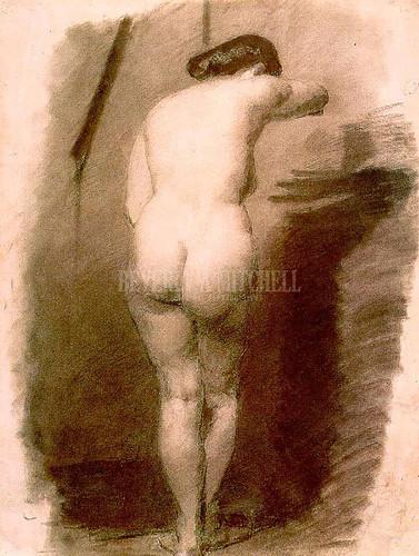 Standing Nude 1876 by Thomas Eakins
