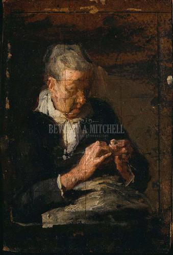 Woman Knitting by Thomas Eakins