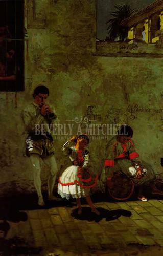A Street Scene In Sevilla 1870 by Thomas Eakins