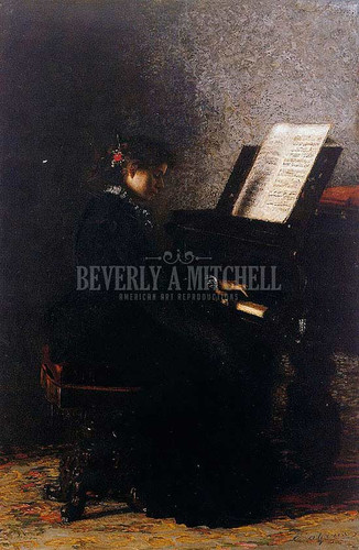 Elizabeth At The Piano by Thomas Eakins
