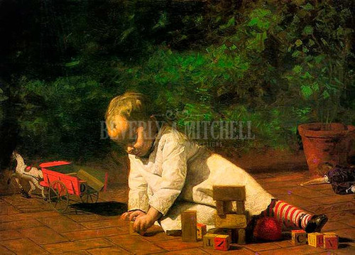 Baby At Play 1876 by Thomas Eakins