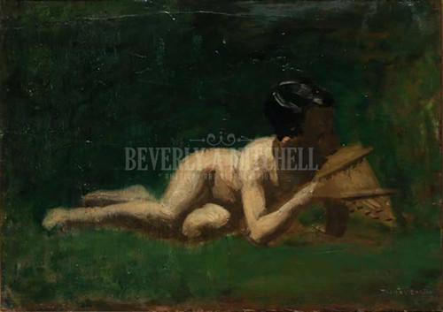 Boy Reclining by Thomas Eakins