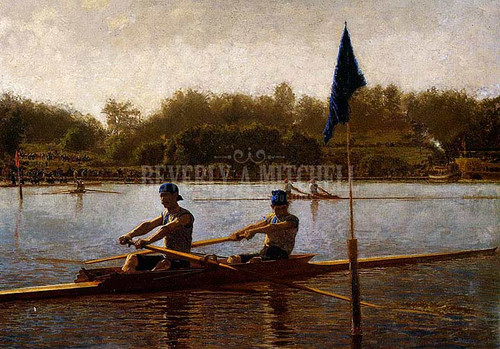 The Biglin Brothers Turning The Stake Boat 1873 by Thomas Eakins