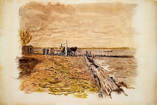 Drawing The Seine 1882 by Thomas Eakins