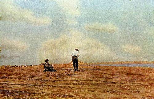 Mending The Net 1882 by Thomas Eakins