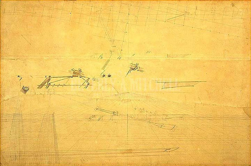 Perspective Drawing For The Biglin Brothers Turning The Stake by Thomas Eakins