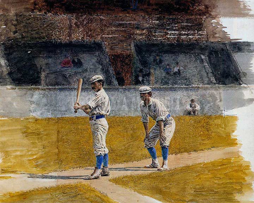 Baseball Players Practicing by Thomas Eakins