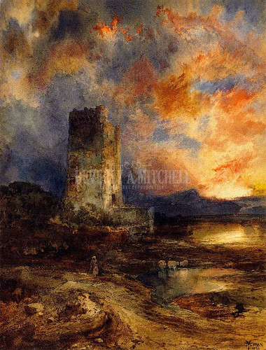 Sunset On The Moor by Thomas Moran