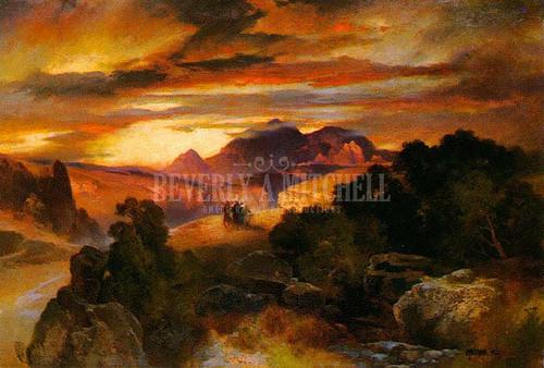 Sunset by Thomas Moran