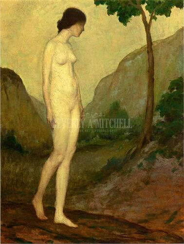 Nude In Landscape by Arthur B. Davies