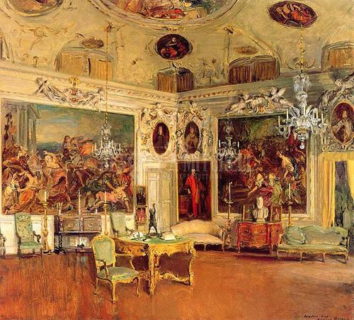 Interior Of Palazzo Barbaro Venice by Walter Gay