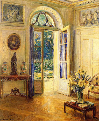 Drawing Room Of Egerton Winthrop 23 East Thirty Third Street New York by Walter Gay