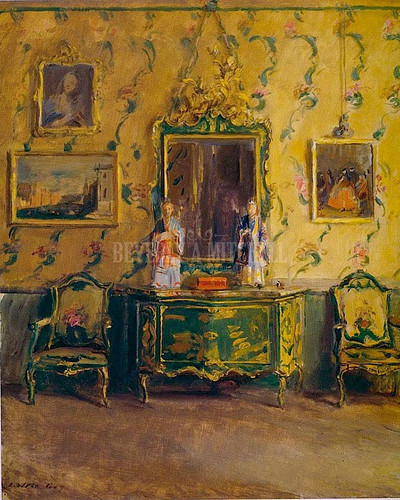 The Green Lacquer Room Museo Correr Venice by Walter Gay