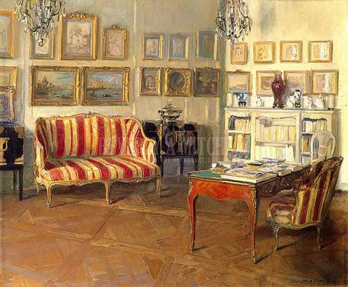 Library 11 Rue De Luniversite by Walter Gay