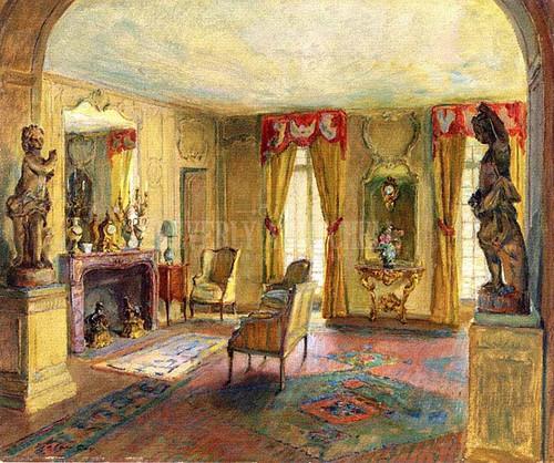 Salon Of The Chateau Du Breau by Walter Gay