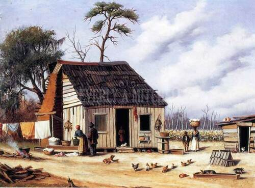 Board And Batten Northern South Carolina Cabin by William Aiken Walker