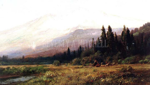 Mount Shasta From Strawberry Valley by William Keith