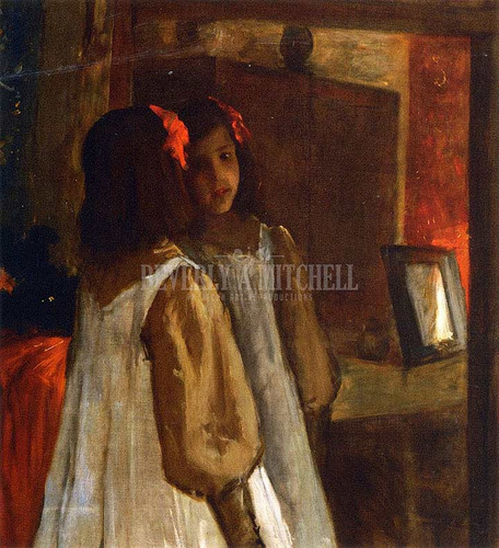 Alice In The Mirror by William Merritt Chase