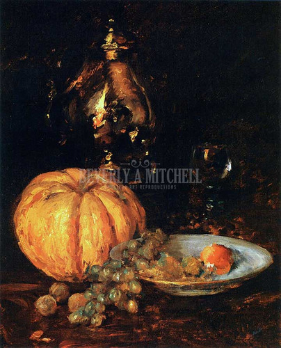 A Belgian Melon by William Merritt Chase