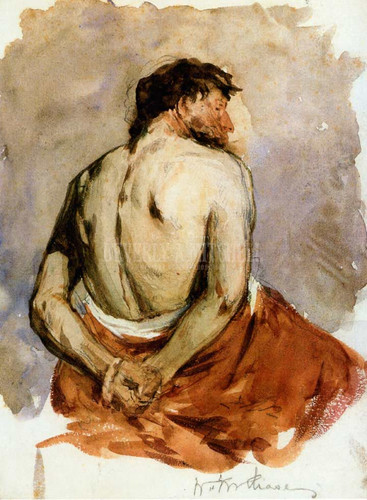 Back Of A Male Figure by William Merritt Chase