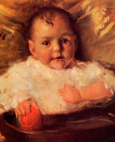 Bobbie A Portrait Sketch by William Merritt Chase