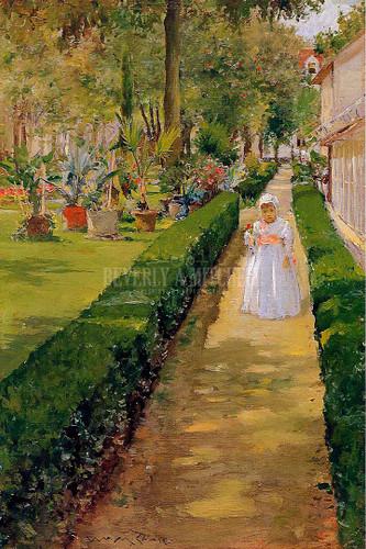 Child On A Garden Walk by William Merritt Chase