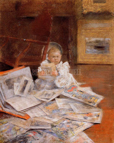 Child With Prints by William Merritt Chase