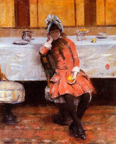 Young Girl On An Ocean Steamer by William Merritt Chase
