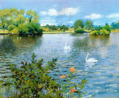 A Long Island Lake by William Merritt Chase