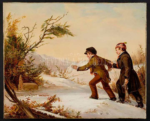 Rabbit Trapping by William Sidney Mount