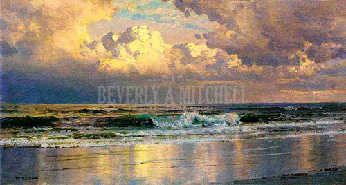Beach At Atlantic City by William Trost Richards