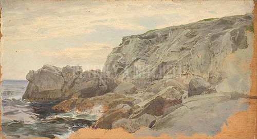 Coast Scene Rhode Island by William Trost Richards