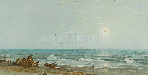 Driftwood On The Shore by William Trost Richards