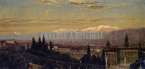 Florence With Mountains In Background by William Trost Richards