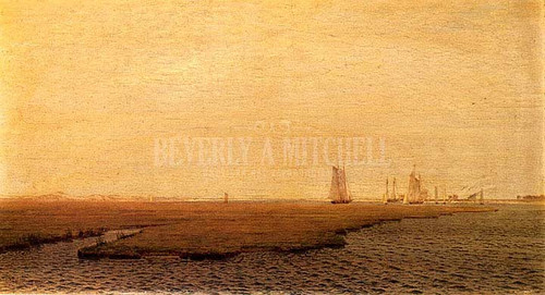 Ships In The Inlet Atlantic City by William Trost Richards
