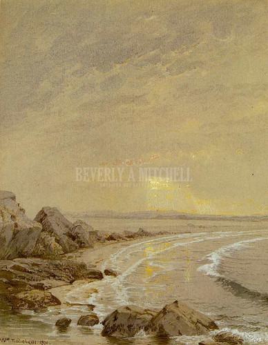 Breaking Sun Rhode Island Coast by William Trost Richards