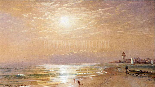 Along The Beach Towards Sunset by William Trost Richards