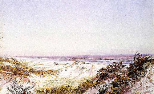 Atlantic City Beach Dunes And Grass by William Trost Richards