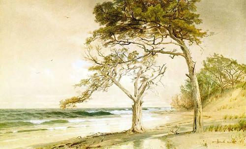 Beach Scene Trouville Sur Mer by William Trost Richards