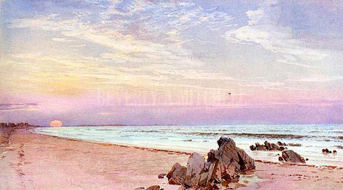Beach With Rising Sun New Jersey by William Trost Richards
